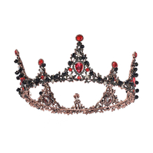 Vintage Bridal Headband Accessories Red Rhinestone Tiaras Crowns