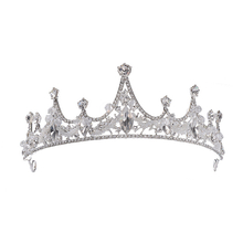 Hair Jewelry Wedding Crown Women Baroque Tiaras Crystal Flower Tiara