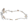 Ceramic Flower Crystal Headband Pearl Beads Headpieces For Brides Hair Accessories