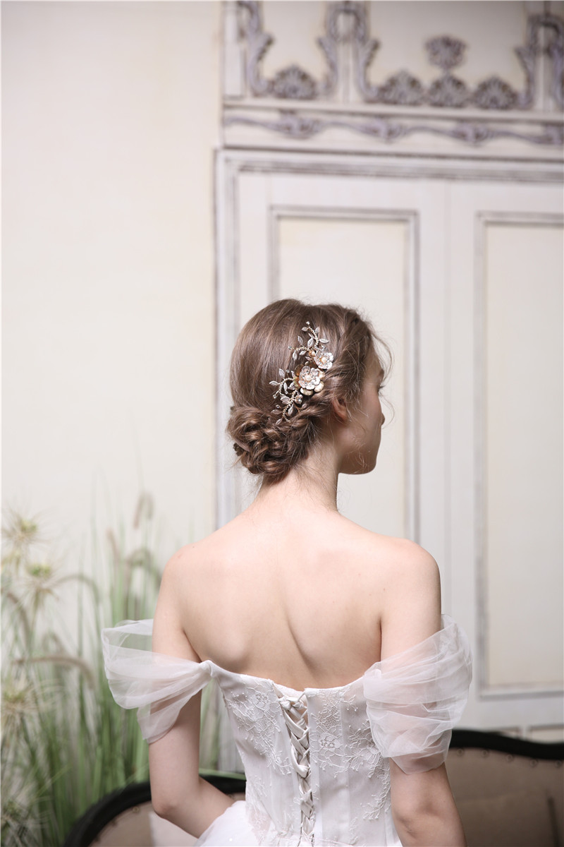 Factory Direct Price Alloy Material Design Patent Bridal Hair Comb