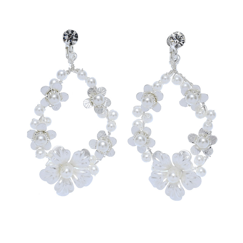 Fashion Design Bridal Accessories Factory Imported Material Crystal bead Earrings For Bride
