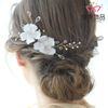 Elegant Flower Bridal Wedding Hair Pins with Rhinestone Crystal