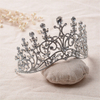 Silver Rhinestone Hair Accessories Hair Jewelry Wedding Bridal Crown