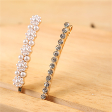 China Factory Hot Sale Wedding Rhinestone Hair Accessories Pearl Hair Clips