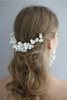 White Ceramic Flower Headdress Bridesmaid Earring Bridal Accessories