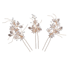 Crystal Pearl Girls Wedding Hair Accessories Jewelry Women Hair Pins