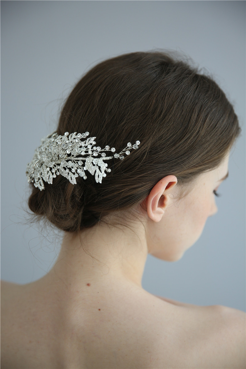 Pure Handmade Crystal Hair Jewelry Accessories Barrette Bridal Hair Clips