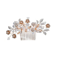 Hair Accessories Flower Hairpin Bridal Wedding Combs Leaf Hair Combs