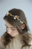 Gold Leaves Bridal Accessories Hairband Headdress Plastic Leaf Headpiece