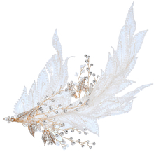 Bridesmaid Headdress Hair Accessories Bridal Flower Gold Leaf Headpiece