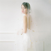 Beautiful Korean-style 1.55M One Layer White Bridal Wedding Veils