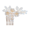 Luxury Ceramics Floral Beads Wedding Hair Accessories Earring Headband