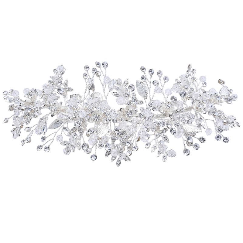 Crystals Rhinestones Tiara Wedding Hair Clip Accessories Headband Bridal Barrettes