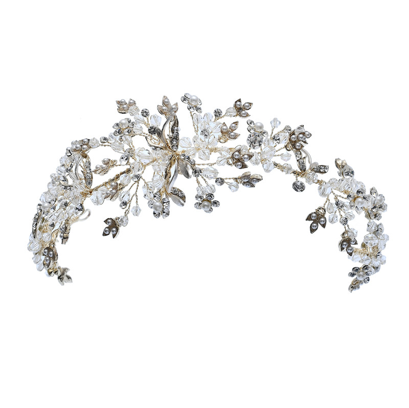 Hair Accessories Top Quality Elegant Girls Headband Rhinestone Alloy Bridal Tiara