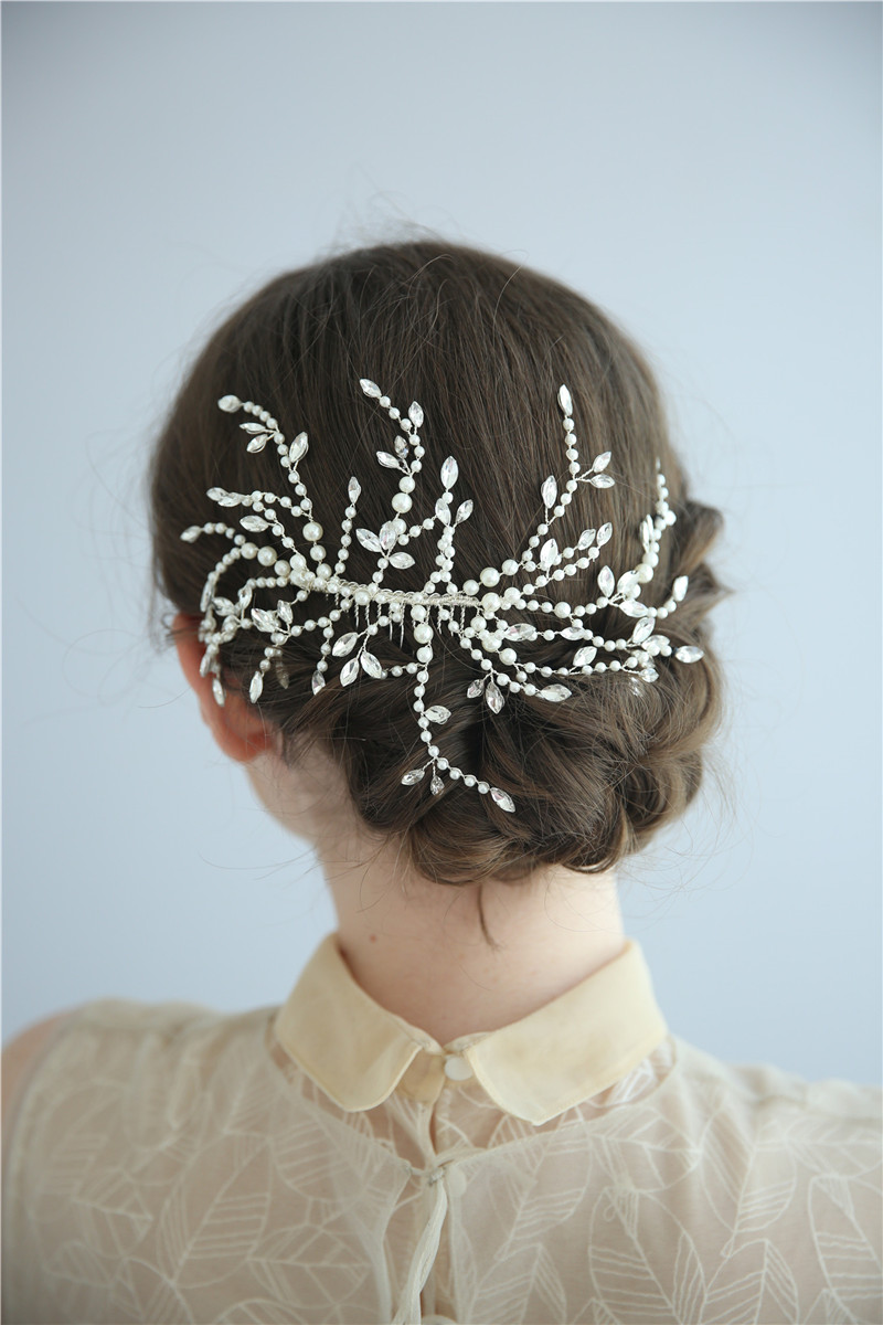Korea Style Crystal Bridal Headpiece Women Wedding Hair Combs