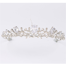 Women Fashion Wedding Hair Jewelry Accessories Bridal Alloy Crystal Crown