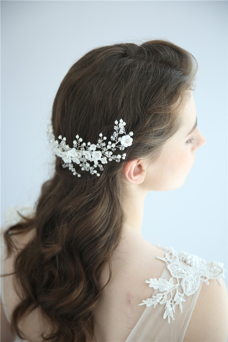 Women Hair Accessories Wedding Bridal Delicate Leaf Hair Jewelry Floral Headpiece
