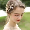 Handmade Crystal Bride Hairband Jewelry Luxury Gold Leaf Wedding Bridal Hair Vine Clip Accessory