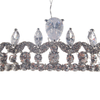 High Quality Fashion European Styles Tiara Rhinestone Silver Crystal Crown