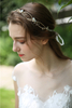 Beautiful Handmade Hair Vine Jewelry Crystal Headband Bridal Wedding Tiara Headpiece For Girl