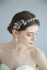 Floral Earring Accessories Eco-friendly Material Wedding Bridal Headpiece Set