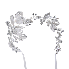 Hair Jewelry Bridal Flower Headband Pearl Beads Headpieces For Brides Hair Accessories