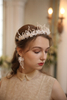 Headbands Hair Ornaments Earring Bridal Crystal Flower Accessories Handmade Women Headpiece
