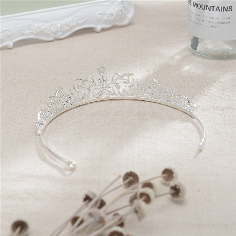 Simple Style Jewelry Headband Graceful Style Bride Crown Tiara For Wedding