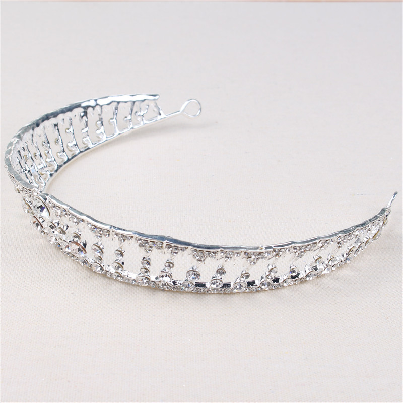 Hot Sale Fashion European Fashion Shinny Big Diamond Bride Wedding Crown