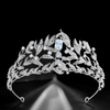 Crystal Rhinestone Stylish Silver Leaf Bridal Wedding Zircon Crowns