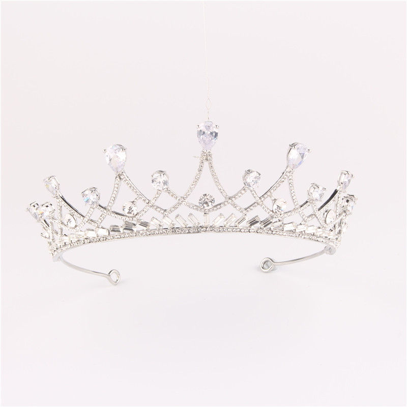 European Vintage Bridal Headband Accessories Rhinestone Tiaras Crowns