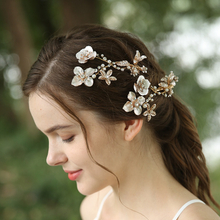 Fancy Flower Hair Clips Rhinestone Wedding Bridal Hair Jewelry Accessories