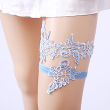 New Design Colors Sexy Embroidery Flowers Bridal Garter Belt