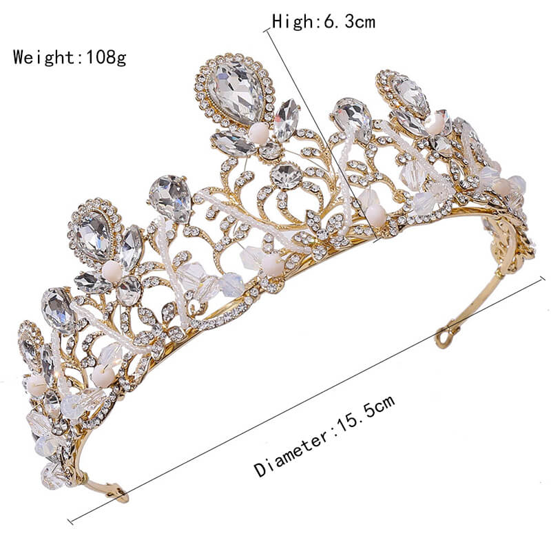 Birthday Prom Queen Hair Jewelry Luxury Crystal Rhinestone Bridal Pageant Crowns and Tiaras