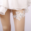 Custom Pearl White Lace Flower Sexy Girls Bride Accessories Wedding Leg Garters For Women
