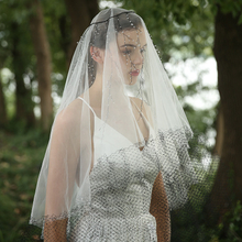 Handmade Black Lace Drop Long Bridal Veil Crystal Vine Headdress White Bridal Veils