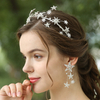 Custom Celestial Stars Inspired Wedding Bridal Headpiece Earrings Jewelry Set