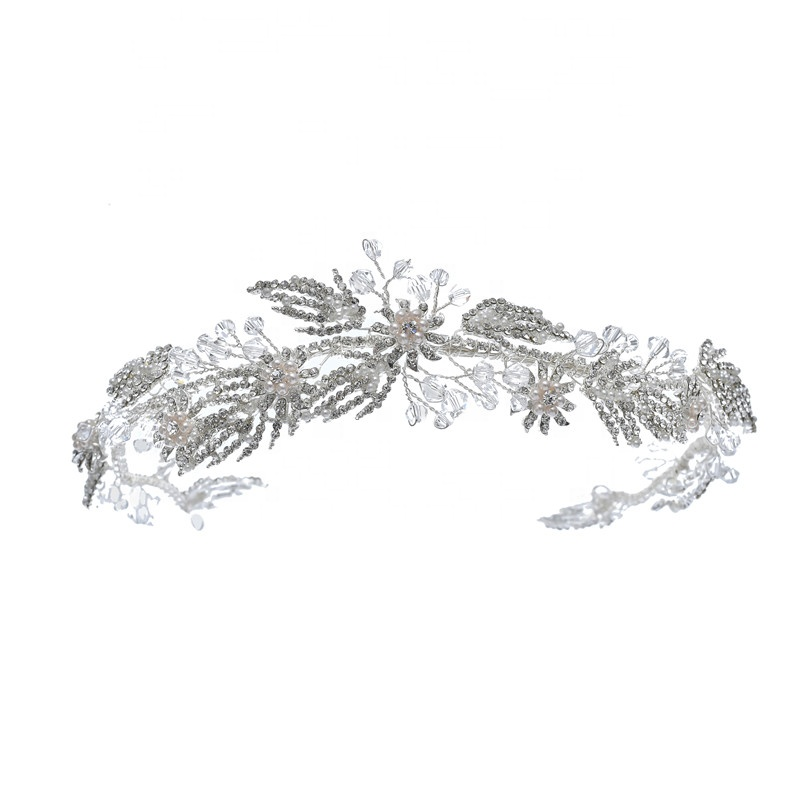 Sparkle Crystal Rhinestone Leaves Design Hairbands For Girls