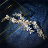 2020 Fashion Gold Flower Leaves Pearl Bridal Jeweled Hair Comb