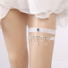 2020 New Fashion Customized Dangling Pearl Rhinestone Lace Sexy Leg Garter