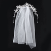 Wholesale Handmade Bridal Beads Pearl Flower Veils Short Lace Hair Jewelry Wedding Veill