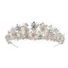 Headband Bride Crystal Rhinestone Pearl Bridal Crown For Wedding