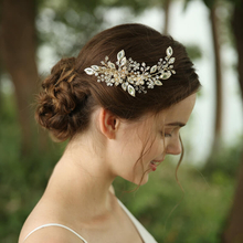 Elegant Korean Style Pop Handmade Big Crystal Bridal Hairclip Headpiece